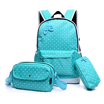Amazon.com   3 PCS/Set School Bags Teenagers Girls Backpacks Children Lady Bookbags Female Mochila sky blue   Kids Backpacks
