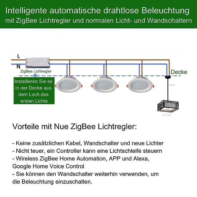 230V Smart ZigBee Lichtschalter in der Decke oder in der Wand ...