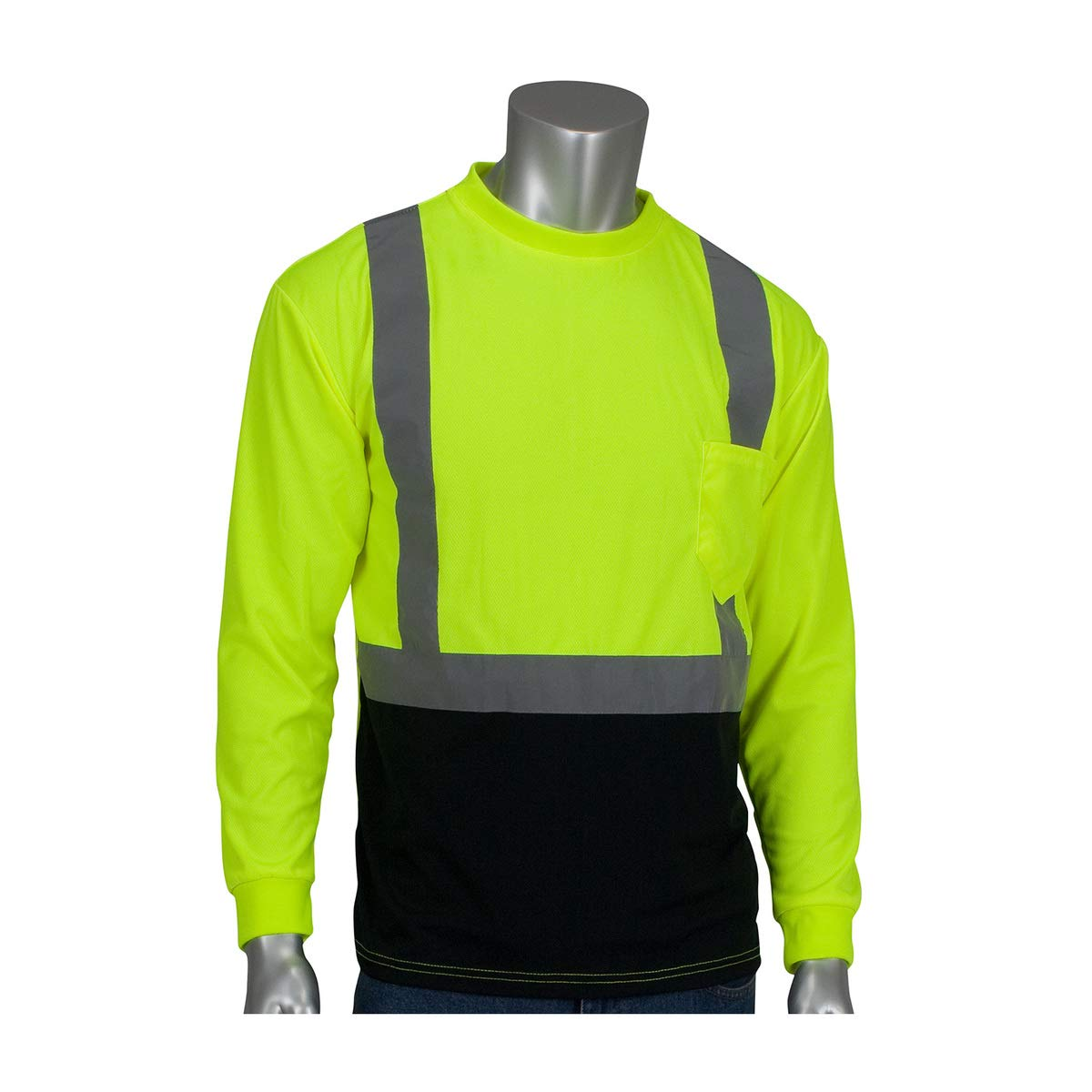 Protective Industrial Products 3X Hi-Viz Yellow/Hi-Viz Orange 1 Polyester/Birdseye Mesh Two-Tone Long Sleeve Shirt
