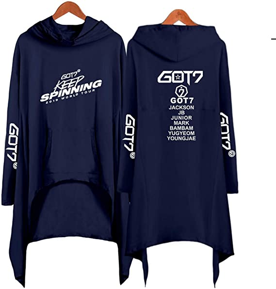GOT7 Keep Spinning Casual Suelta Capucha Irregular Sudadera de ...