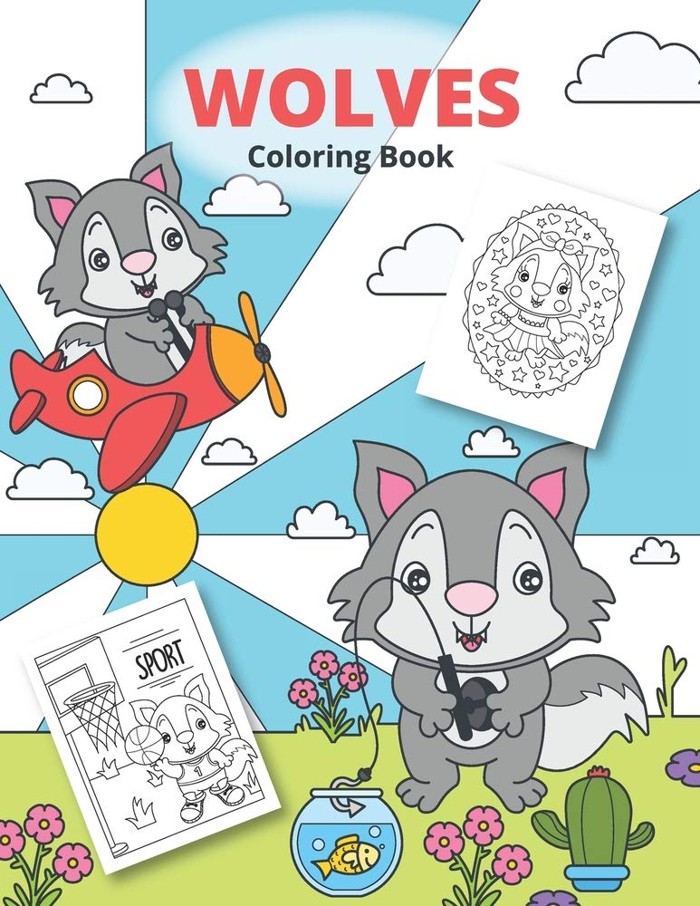 Wolves Coloring Book: Wolves Coloring For Kids (Funny Coloring Books For  Kids): Wintoloono: 9798583318254: Amazon.com: Books