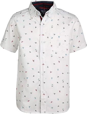 FAZE 1 Boys Short Sleeve Button Down Woven Shirt 2 Pack
