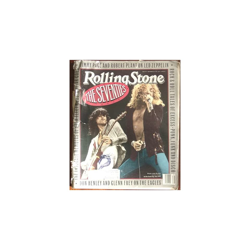Rolling Stone Magazine #587 The Seventies Special Issue (September, 1990) (Led Zeppelin cover)