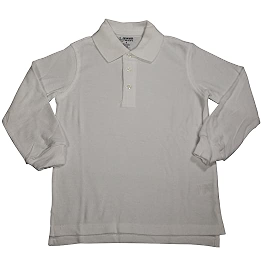 5555ff50a Amazon.com  French Toast Boys Long Sleeve Pique Polo  Clothing