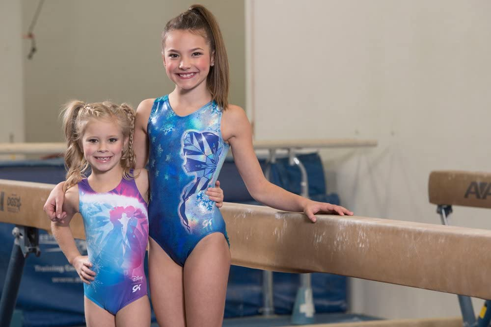 Asatr Girls One-piece Sparkle Dancing Gymnastics Athletic Sleeveless Leotard 2-10Y