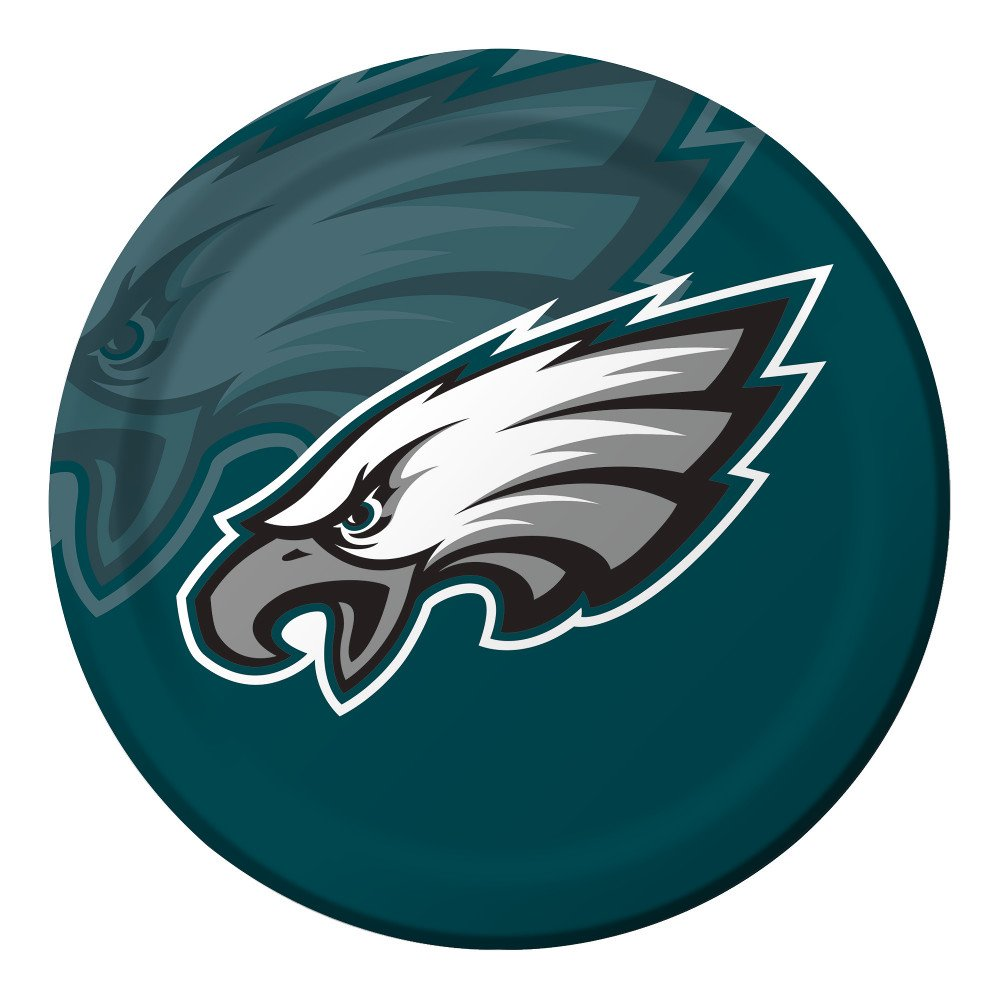 Creative Converting Officially Licensed NFL Dinner Paper Plates, 96-Count, Philadelphia Eagles - 429524 by Creative Converting (Image #2)