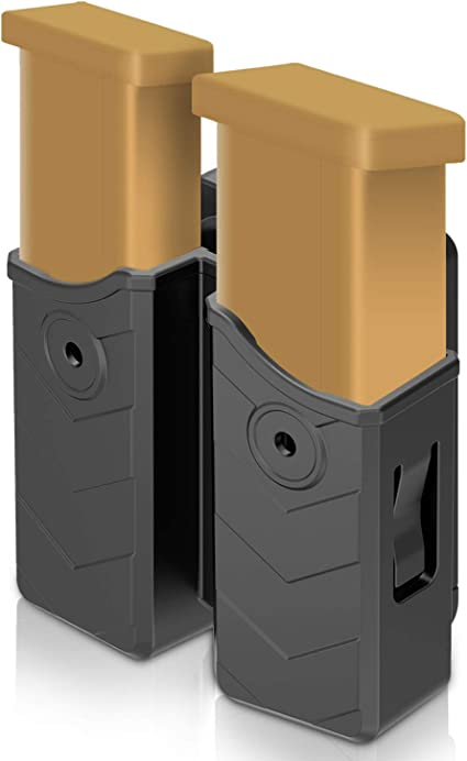 Polymer Magazines 9mm /& 40 Cal. 2 Magazine Pouch Fits GLOCK Double Stack