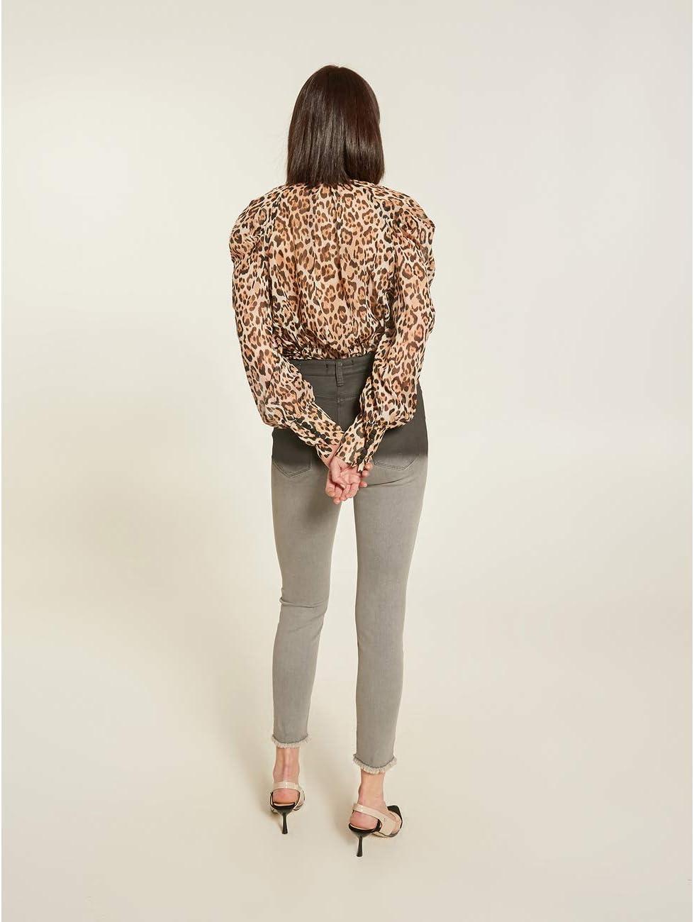 Motieven: genummerde skinny-jeans, model Gisele (Italian Size) grijs