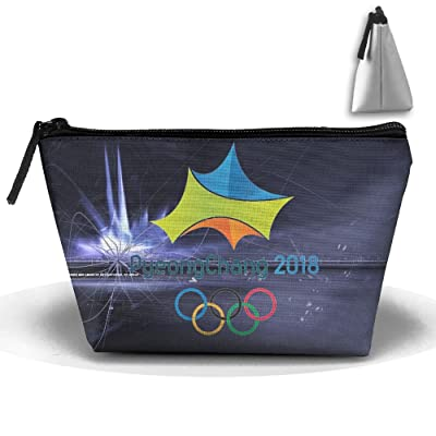 PyeongChang 2018 Olympics Creative Large Capacity Trapezoidal Cosmetic Pouch Pencil Holder Organizer Portable Pouch