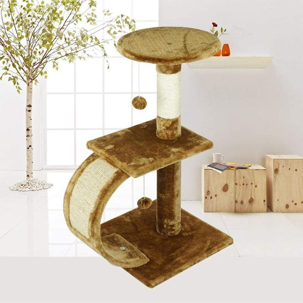 Deluxe Multi Cat Tower Cat Play Towers Wooden top-Grade Kitty Cat Platform pet Toy sisal 35  35  70cm