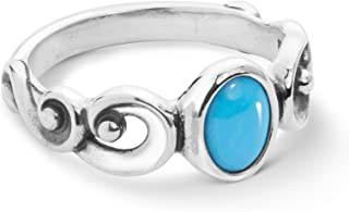 product image for Carolyn Pollack Sterling Silver Sleeping Beauty Turquoise Gemstone Ring Size 5 to 10