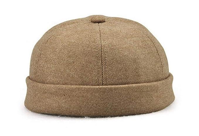 Zegoo Solid Color Cotton Short Beanie Magic Strap Casual Hat Soft Cap Beige  at Amazon Men s Clothing store  306535c32071