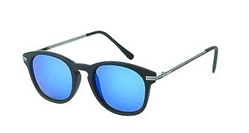 Des lunettes de soleil Chic-net rondes John Lennon 400UV pont serrure Retro repassage d'orange réfléchissante mince TJulvtI