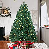 Ztotop 6.5 Foot Premium Spruce Hinged Artificial Christmas Tree with 500 Clear Lights and Sturdy Stand