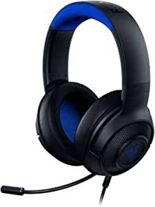 Razer Kraken X Ultralight Gaming Headset: 7.1 Surround Sound Capable - Lightweight Frame - Integrated Audio Controls - Bendable Cardioid Microphone - For PC, Xbox, PS4, Nintendo Switch - Blue/Black