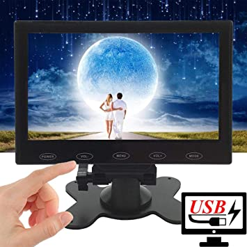 7/'/' Ultra Thin 1024x600 LCD Audio Video HDMI VGA PC Screen HD Monitor Adapter