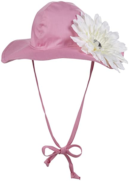 flap happy Baby Girls Floppy hat with Flower - Candy Pink - Newborn  Amazon. in  Baby 48a3053e1d47