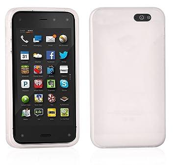 Cadorabo Amazon Fire Phone Funda de Silicona TPU DISEÑO X en BLANCO MAGNESIO: Amazon.es: Electrónica