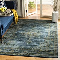 Safavieh Serenity Collection SER210C Turquoise and Gold Area Rug (6 x 9)
