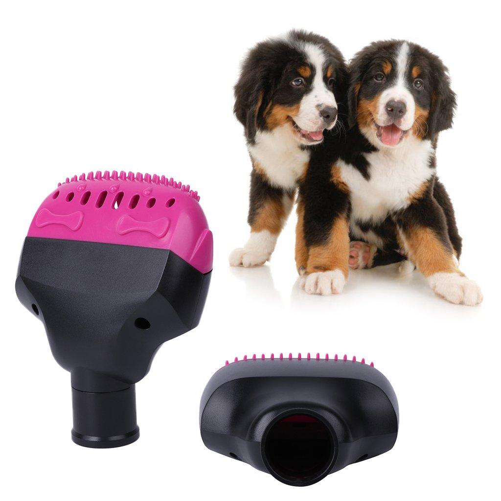 JunYe Aspiradora para Mascotas Accesorios de Boquilla con brocha 32mm Perro Gato Masaje Peine del Pelo Herramientas Aspiradora Accesorio