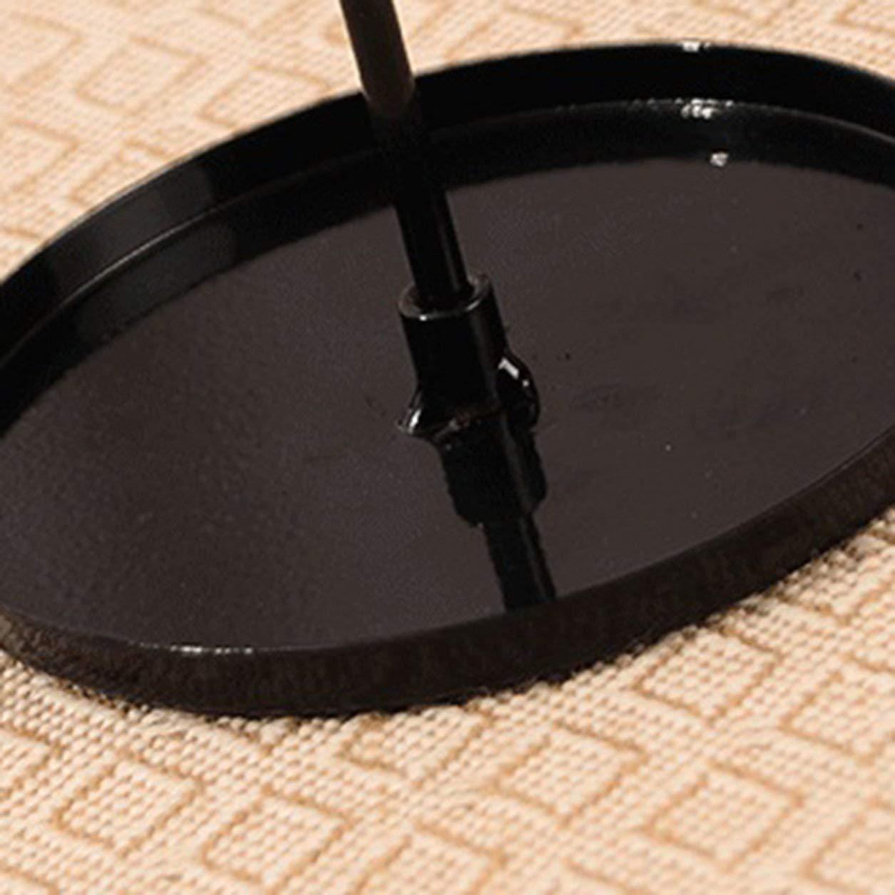 couleur: noir Parapluie Forme Double couche Porte-bijoux rotatif Boucles doreilles Boucles doreille Goujons Pr/ésentoir Bracelet Collier Montre Organisateur Rack
