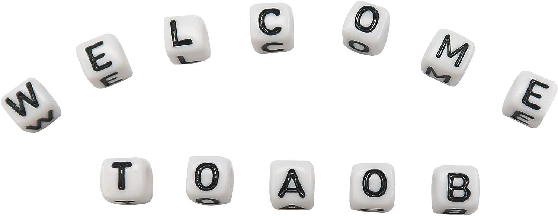 6 mm creazione di braccialetti e collane con lettera dell/'alfabeto dalla A alla Z per bricolage TOAOB Confezione da 1000 perline in plastica acrilica