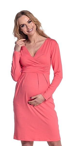 Happy Maternidad Mama Mujer vestido cabe en todas las Fases el embarazo 285p coral 42