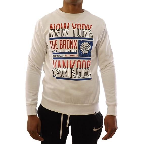 Felpa Majestic  Graphic Crew NY Yankees WH M  Amazon.it  Abbigliamento ee08778cc4e5