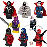 8pcs/lot Marvel Super Heroes Hydra Captain America Spawn Atom Moon Knight Minifigures Building Blocks Toys Legoes Compatible