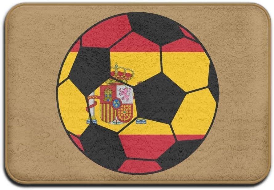 tyui7 Decoración Antideslizante Felpudo 23.6 x 15.7 Pulgadas Bandera de fútbol de España Salidas Antideslizantes Tapetes para Las Puertas Alfombra de pie: Amazon.es: Hogar