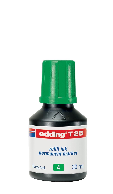 Edding T25-001 - Frasco de tinta permanente de 30 ml, color negro: Amazon.es: Oficina y papelería