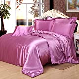 Light Purple Silk Bedding Luxury Bedding Silk Duvet Cover Set Silk Duvet Cover Silk Pillowcase, King Bedding
