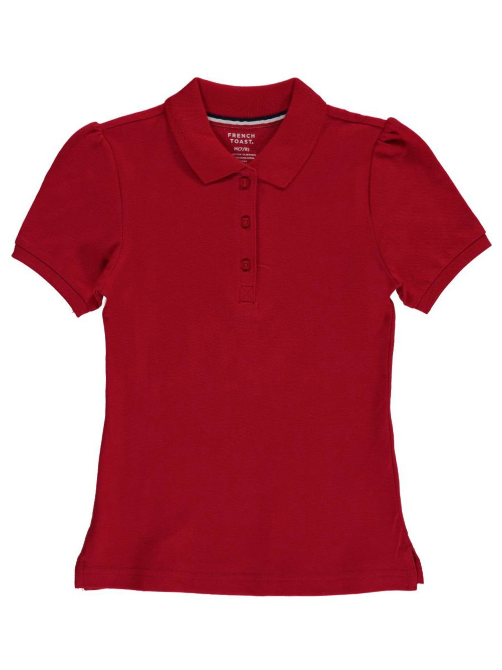 French Toast Big Girls' Top Marks S/S Pique Polo
