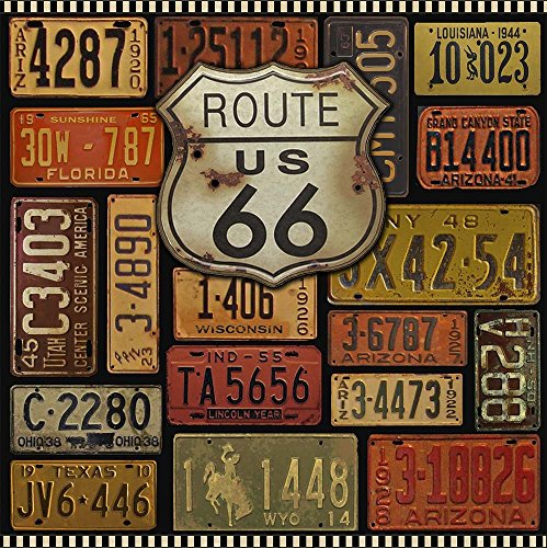Vintage and Rustic Route 66 by Jean Plout Art Print - shabby chic wall art