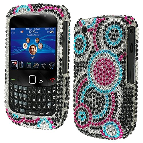 Asmyna BB8520HPCDM015NP Dazzling Luxurious Bling Case for BlackBerry Curve 8520/8530/9300/9330 - 1 Pack - Retail Packaging - Bubble