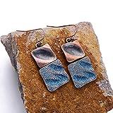 DeemoShop Zinc Alloy Square Drop Earrings Vintage Twist Design Copper Pendant Ethnic Earring Women Jewelry Gift Hot