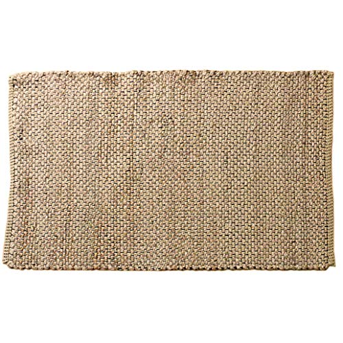 Outlavish Jute Area Rug - Chunky Pattern, Less Scratchy, Extra Strength, Handwoven & Reversible (2x3, Natural)