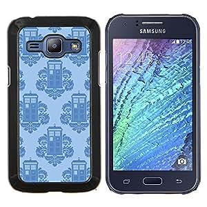 LECELL--Funda protectora / Cubierta / Piel For Samsung Galaxy J1 J100 -- Teléfono rococó stand Patrón Quién --