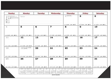 Amazoncom Large Desk Pad Blotter Scheduling Calendar With - Desk blotter calendar