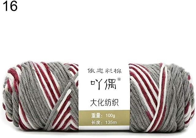 KimcHisxXv Crochet 8 Madejas De Hilo De Algodón Suave Mini Tejido Y Proyecto De Ganchillo 16: Amazon.es: Hogar