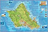 Oahu Hawaii Adventure Map Franko Maps Laminated Poster