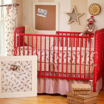Amazon Com Swatch Sock Monkey Crib Bedding Crib Bedding Sets