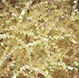 1 LB. Crinkle Shred Paper and Metallic Blend (French Vanilla / Iridescent)