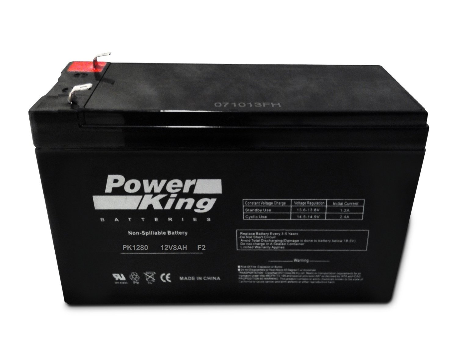 Panasonic LC-R127R2P1 Genuine Replacement Black Large 12V 7.2Ah/8.0Ah VRLA Battery with F2 Terminal Beiter DC Power