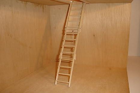 1//12 Escala Casa de Muñecas Miniatura Hechos En USA Plegable Desván Escaleras
