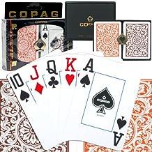 Copag Poker Size Jumbo Index 1546 Orange and Brown Setup Playing Cards, Multi