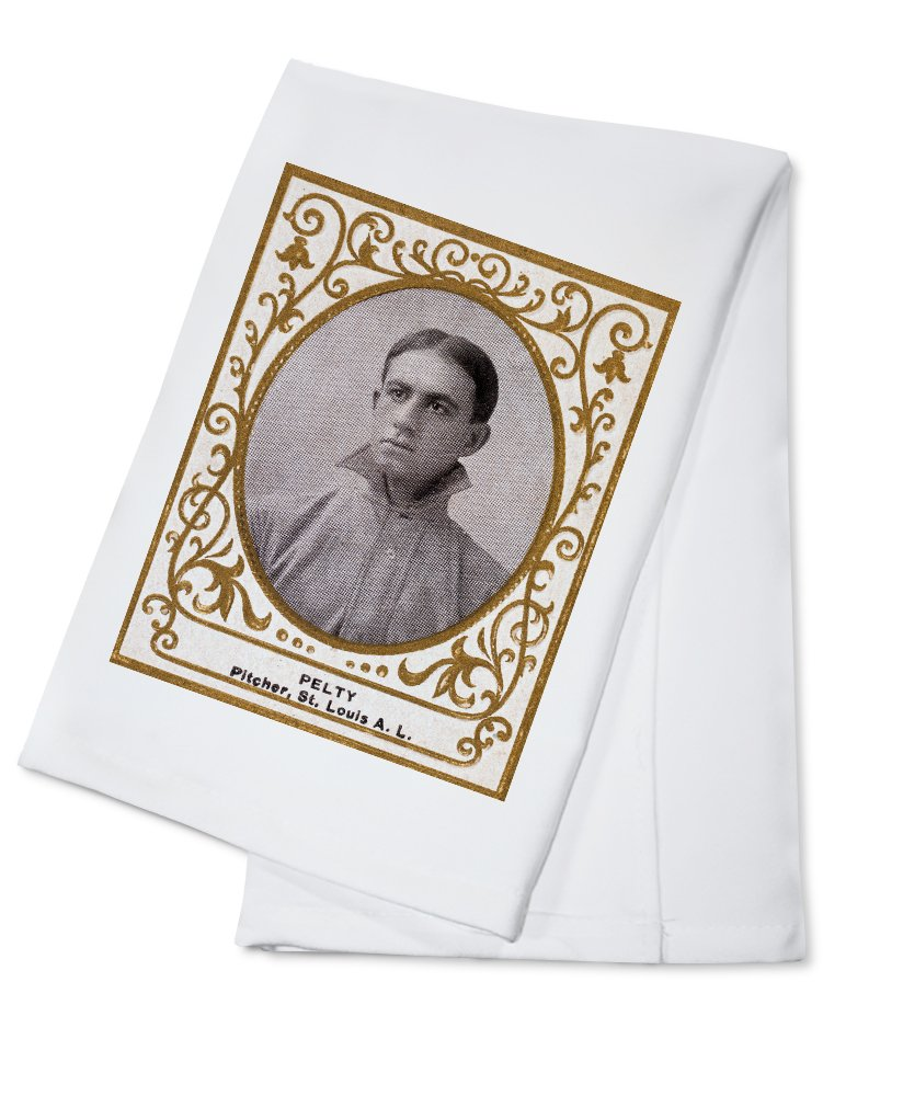 セントルイスBrowns – Barney Pelty – 野球カード Cotton Towel LANT-23104-TL B0184BADUS  Cotton Towel