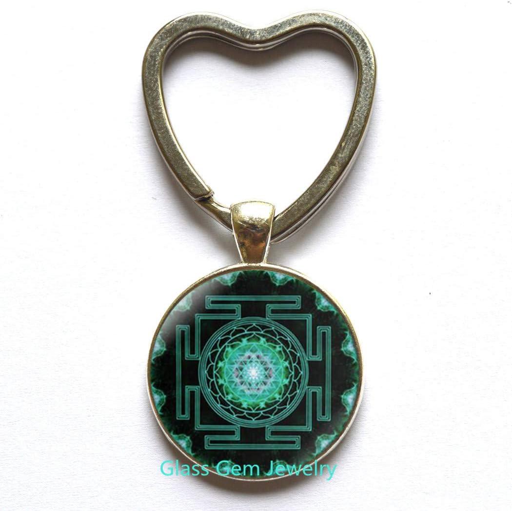 Sri yantra Locket Pendant buddhist sacred geometry jewelry,Sacred geometry jewelry Buddhist,Q0148 ancient mandala antique,Sri yantra Locket Necklace