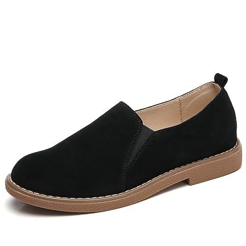 Amazon.com: henraly piel de ante Mocasines Zapatos Planos ...