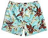 "WUAMBO Men's Sports Runnning Swim Board Shorts with Pocket,Mesh Lining Waist 34""-36"" offers"